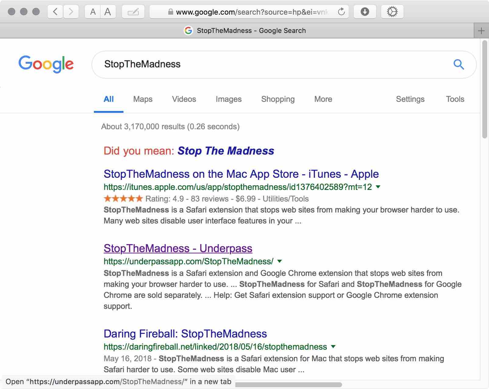 Stop Google Search Results Tracking