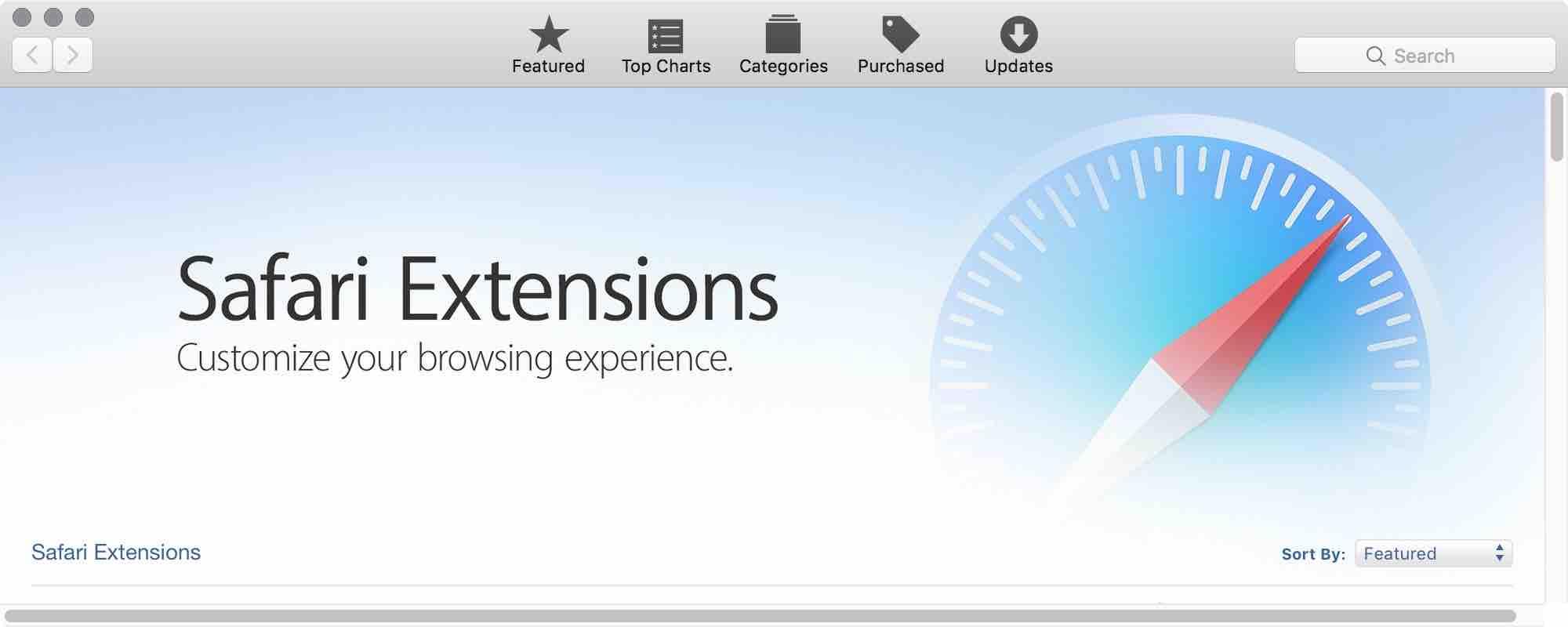 The Mac App Store Safari Extensions Experience
